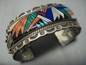Museum Quality! Vintage Navajo Turquoise Sterling Native American Jewelry Silver Bracelet Old-Nativo Arts