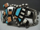 Museum Quality Vintage Zui Turquoise Sterling Native American Jewelry Silver Bracelet-Nativo Arts
