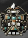 Museum Quality Vintage Zuni Turquoise Knifewing Sterling Native American Jewelry Silver Bracelet-Nativo Arts