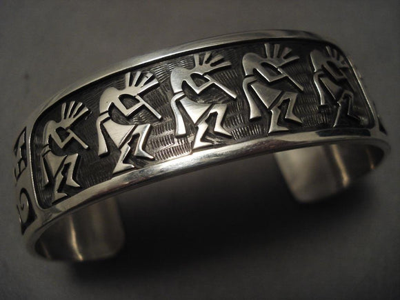 Museum Vintage Hopi Dancing Native American Jewelry Silver Bracelet-Nativo Arts