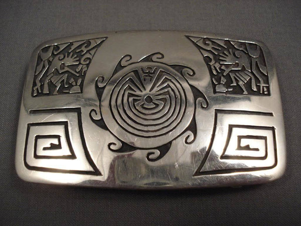Museum Vintage Hopi Geometric Native American Jewelry Silver Bracelet