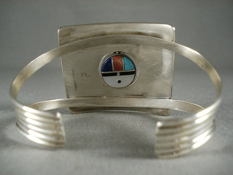 Museum Vintage Hopi Turquoise Coral Native American Jewelry Silver Bracelet-Nativo Arts