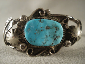 Museum Vintage Hopi Turqyuoise Native American Jewelry Silver Bracelet Old-Nativo Arts
