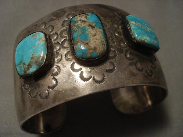 Museum Vintage Navajo #8 Turquoise Native American Jewelry Silver Bracelet