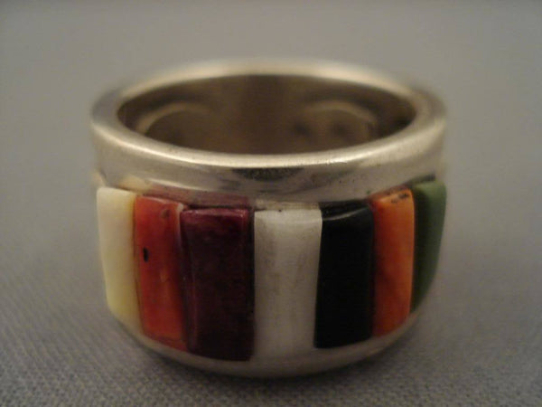 Museum Vintage Navajo Corn Row Turquoise Native American Jewelry Silver Ring