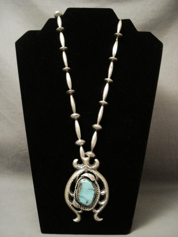 Museum Vintage Navajo Hand Forged Old Native American Jewelry Silver Bead Necklace-Nativo Arts