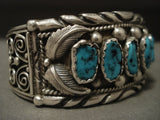 Museum Vintage Navajo Huge Turquoise Native American Jewelry Silver Bracelet Old-Nativo Arts