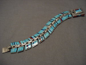 Museum Vintage Navajo Jimmie King Jr Turquoise Native American Jewelry Silver Bracelet-Nativo Arts