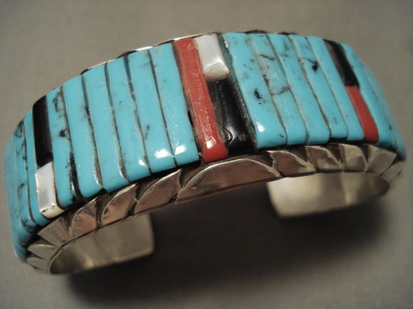 Museum Vintage Navajo 'Loloma Style' Turquoise Native American Jewelry Silver Bracelet-Nativo Arts