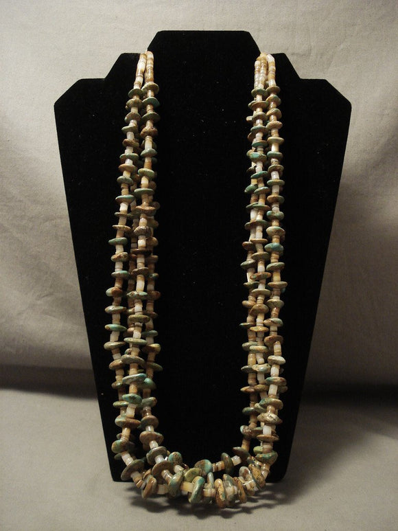 Museum Vintage Navajo Native American Jewelry jewelry 'Natural Green Turquoise' Necklace Old-Nativo Arts
