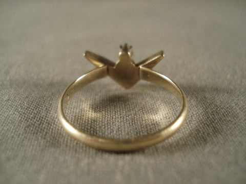 Museum Vintage Navajo Native American Jewelry jewelry Solid 14k Gold Ring Old-Nativo Arts