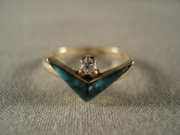 Museum Vintage Navajo Native American Jewelry jewelry Solid 14k Gold Ring Old