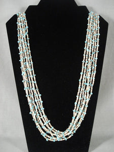 Museum Vintage Navajo Native American Jewelry jewelry Turquoise Necklace Old-Nativo Arts