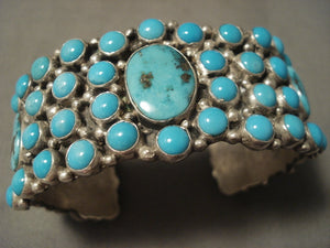 Museum Vintage Navajo 'Natural Turquoise Galore' Native American Jewelry Silver Bracelet-Nativo Arts