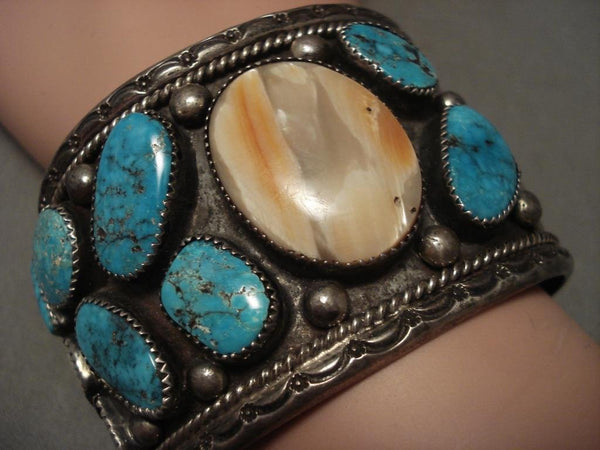 Museum Vintage Navajo shiprock Native American Jewelry Silver Turquoise Bracelet
