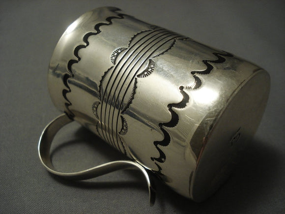 Museum Vintage Navajo Sterling Native American Jewelry Silver Coffee Cup-Nativo Arts