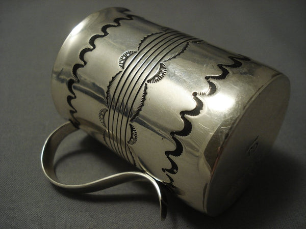 Museum Vintage Navajo Sterling Native American Jewelry Silver Coffee Cup