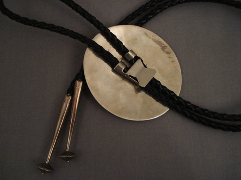 Museum Vintage Navajo super Intricate Native American Jewelry Silver Bolo Tie-Nativo Arts