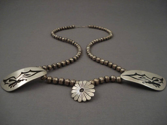 Museum Vintage Navajo Tsosie Native American Jewelry Silver Butterfly Necklace Old-Nativo Arts