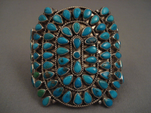 Museum Vintage Navajo Turquoise Native American Jewelry Silver Bracelet Old