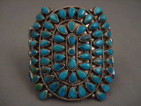 Museum Vintage Navajo Turquoise Native American Jewelry Silver Bracelet Old-Nativo Arts