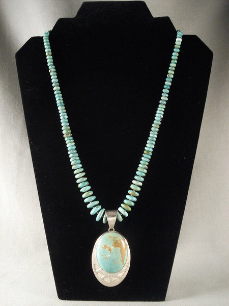 Museum Vintage Navajo Turquoise Native American Jewelry Silver Necklace