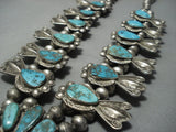 Museum Vintage Navajo Turquoise Sterling Native American Jewelry Silver Squash Blossom Necklace Old-Nativo Arts