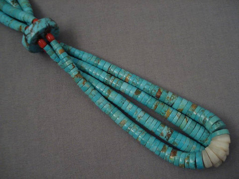 Museum Vintage Santo Domingo Number 8 Turquoise Necklace-Nativo Arts