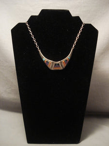 Museum Vintage Zuni flying Wings Turquoise Native American Jewelry Silver Necklace Old Vtg Native American Jewelry Silver-Nativo Arts