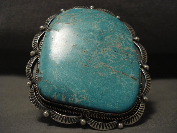 Now That Is A Big Navajo Turquoise Native American Jewelry Silver Bracelet