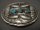 Old 1950's Whopping Vintage Navajo Native American Jewelry jewelry Turquoise Buckle-Nativo Arts