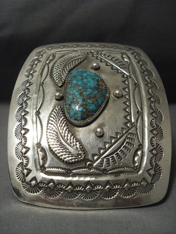 Omg 214 Grams! Monster Vintage Navajo Turquoise Sterling Native American Jewelry Silver Bracelet-Nativo Arts