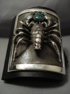 One Of The Best Ever Vintage Navajo Turquoise Sterling Native American Jewelry Silver Ketoh Bracelet!-Nativo Arts