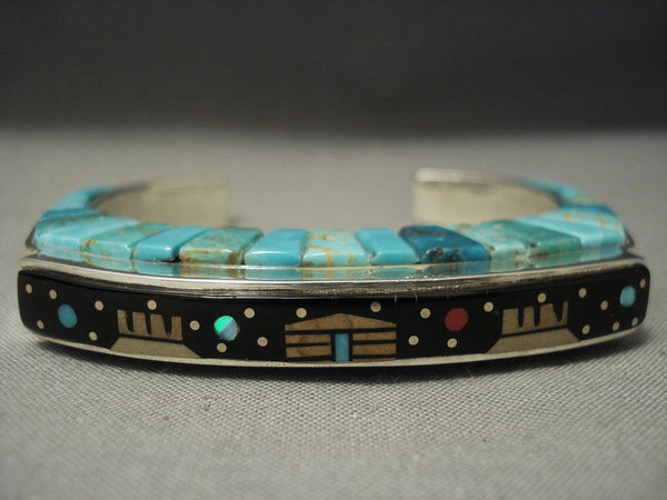 One Of The Best Modern Inlay **midnight Kachina** Turquoise Sugulite Bracelet