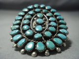 One Of The Biggest Vintage Navajo Turquoise Sterling Native American Jewelry Silver Ring Old-Nativo Arts