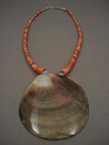 One Of The Largest Vintage Santo Domingo Shell Necklace-Nativo Arts