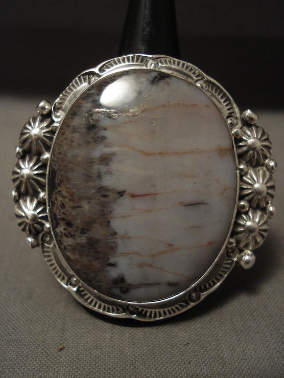 One Of The Most Unique Ben Begaye Navajo Native American Jewelry Silver Ring-Nativo Arts
