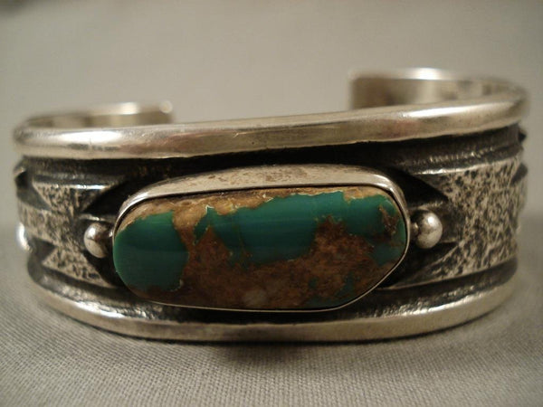 One Of The Most Unique Vintage Navajo Native American Jewelry jewelry Wil Begay Royston Turquoise Bracelet