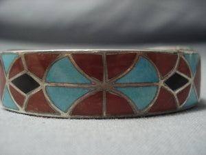 One Of The Oldest Inlay Turquoise Ingot Native American Jewelry Silver .999 Bracelet-Nativo Arts