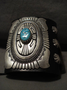 Opulent And Very Rare Vintage Navajo Thomas Singer Native American Jewelry Silver Ketoh Bracelet-Nativo Arts