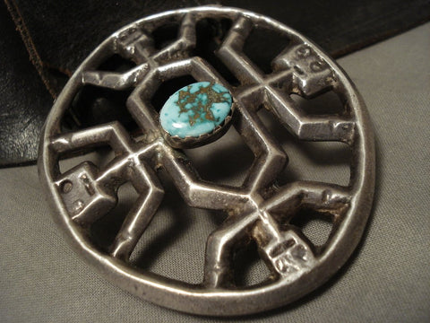 Opulent Early & Important Vintage Navajo Yeibichai Turquoise Native American Jewelry Silver Concho Belt-Nativo Arts