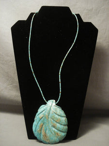 Opulent Vintage Navajo Native American Jewelry jewelry 'Best Carico Lake Turquoise' Necklace-Nativo Arts