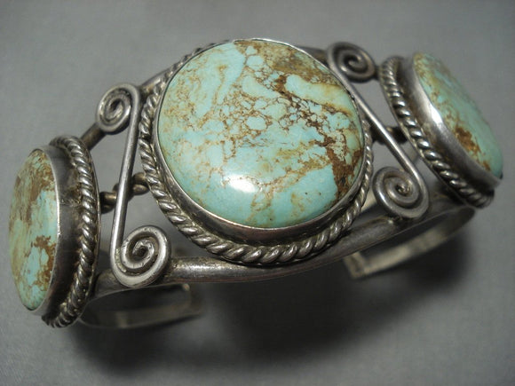 Opulent Vintage Navajo Royston Turquoise Sterling Native American Jewelry Silver Bracelet-Nativo Arts