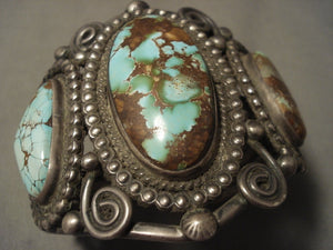 Opulent Vintage Navajo Turquoise Native American Jewelry Silver Bracelet- For Serious Collectors-Nativo Arts