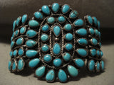 Opulent Vintage Navajo Turquoise Native American Jewelry Silver Bracelet-Nativo Arts