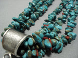 Phenomenal Vintage Navajo Native American Jewelry jewelry Royston Turquoise Sterling Silver Necklace Old-Nativo Arts