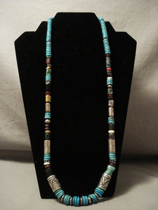 Private Layaway- Authentic And More Rare Vintage Thomas Singer 'Drum Tube Bead' Native American Jewelry Silver Necklace-Nativo Arts