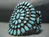 Quality Vintage Navajo Blue Diamond Turquoise Sterling Native American Jewelry Silver Bracelet Old Pawn-Nativo Arts