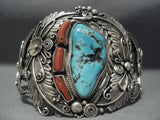 Quality Vintage Navajo Blue Diamond Turquoise Sterling Native American Jewelry Silver Bracelet Old-Nativo Arts