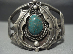 Quality!! Vintage Navajo Royston Turquoise Sterling Native American Jewelry Silver Bracelet-Nativo Arts